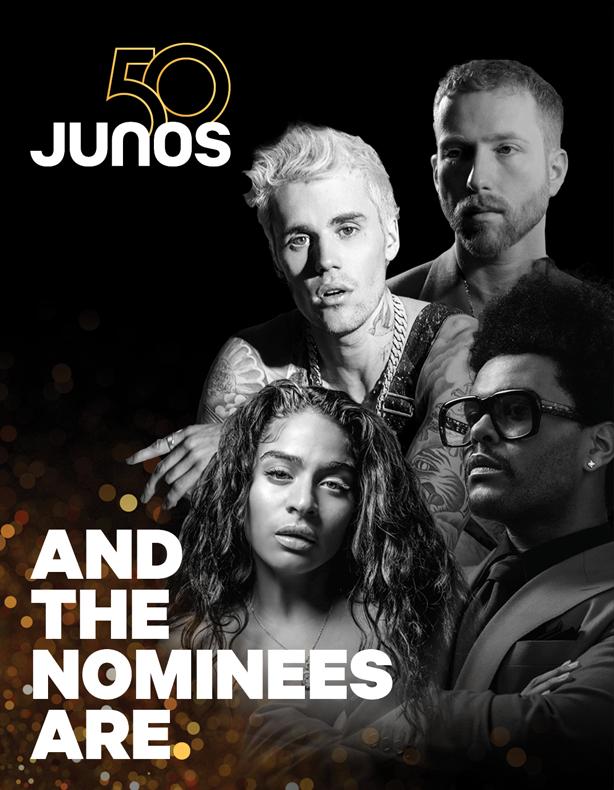 2021 Juno nominees in RCS Music News Weekly
