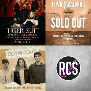 Royal City Studios Concerts - RCS Music News Weekly